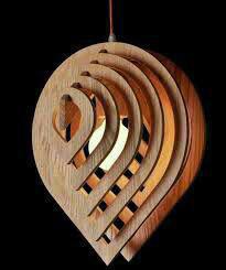 لوستر آویز چوبی طرح اشک