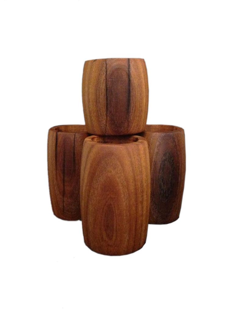 شمعدان چوبی خراطی شده