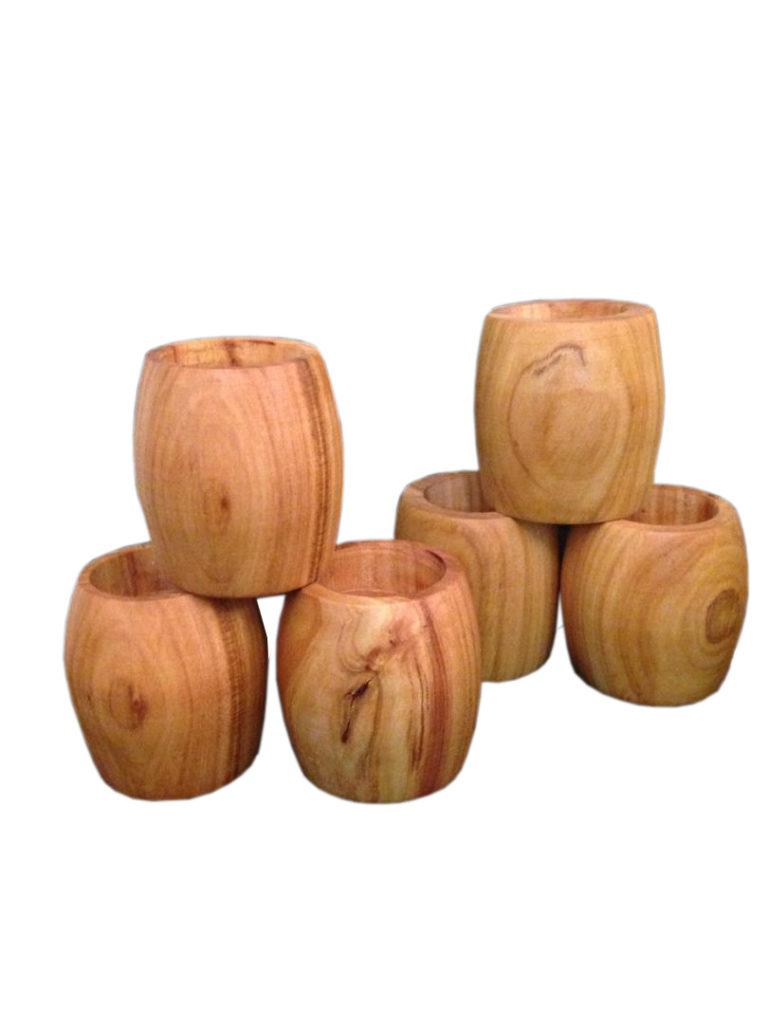شمعدان چوبی خراطی شده کوچک