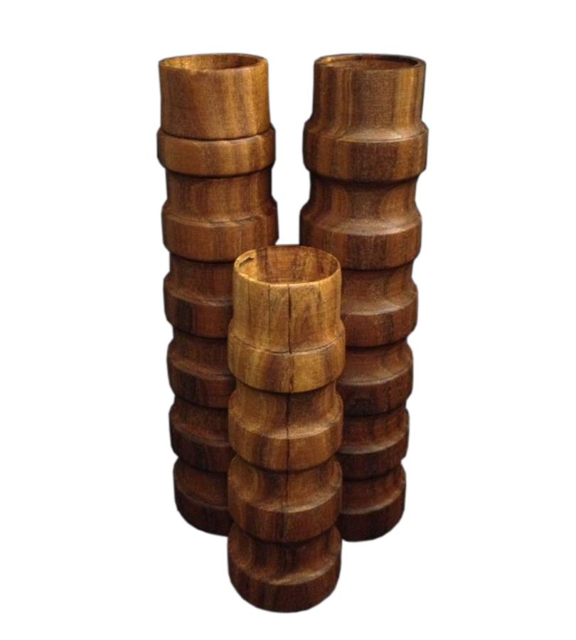 شمعدان چوبی خراطی شده بلند
