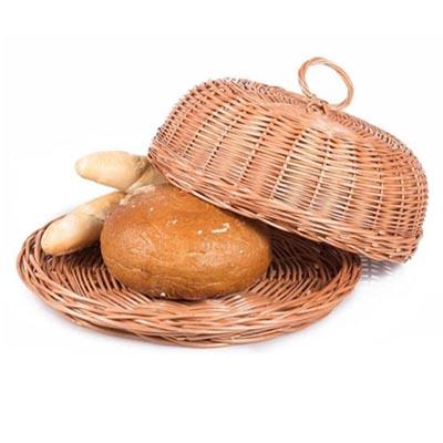سبد نان حصیری درب دار