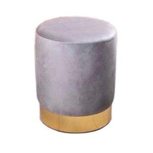 پاف تشک خاکستری پایه طلایی