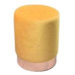 پاف تشک زرد پایه طلایی