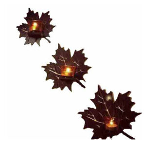 ست شمعدان سه تایی طرح برگ