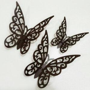 پروانه تزیینی 3 تیکه 3 بعدی