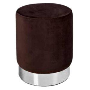 پاف استوانه ای مخمل تشک قهوه ای سوخته