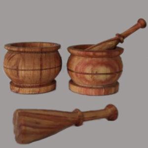 ست هاون و دسته هاون چوبی