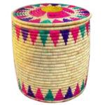 سطل برنج حصیری استوانه ای