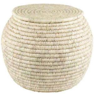 سبد حصیری برنج خمره ای