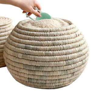 سطل حصیری برنج خمره ای